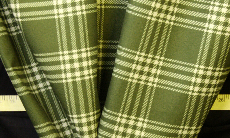 10 yards sale fabric 54 olive green plaid home decor for Cloth material for sale