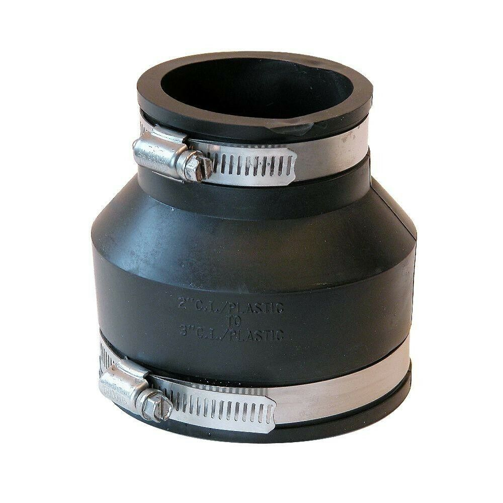 Pvc flexible coupling reducer with stainless