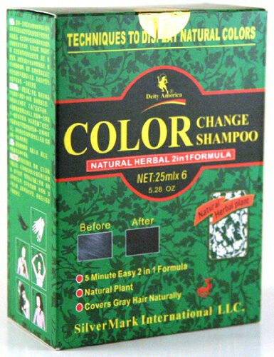 Deity Hair Color Change Shampoo Natural Herbal 2  In 1 Formula 6 Pack 1 Bo
