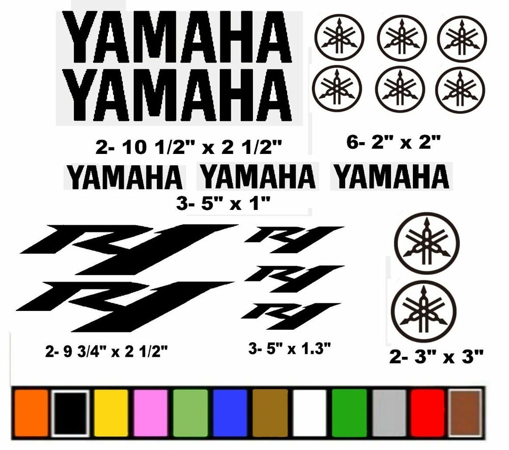 yamaha r1 stickers decals graphics motorcycle race racing choose your color ebay. Black Bedroom Furniture Sets. Home Design Ideas