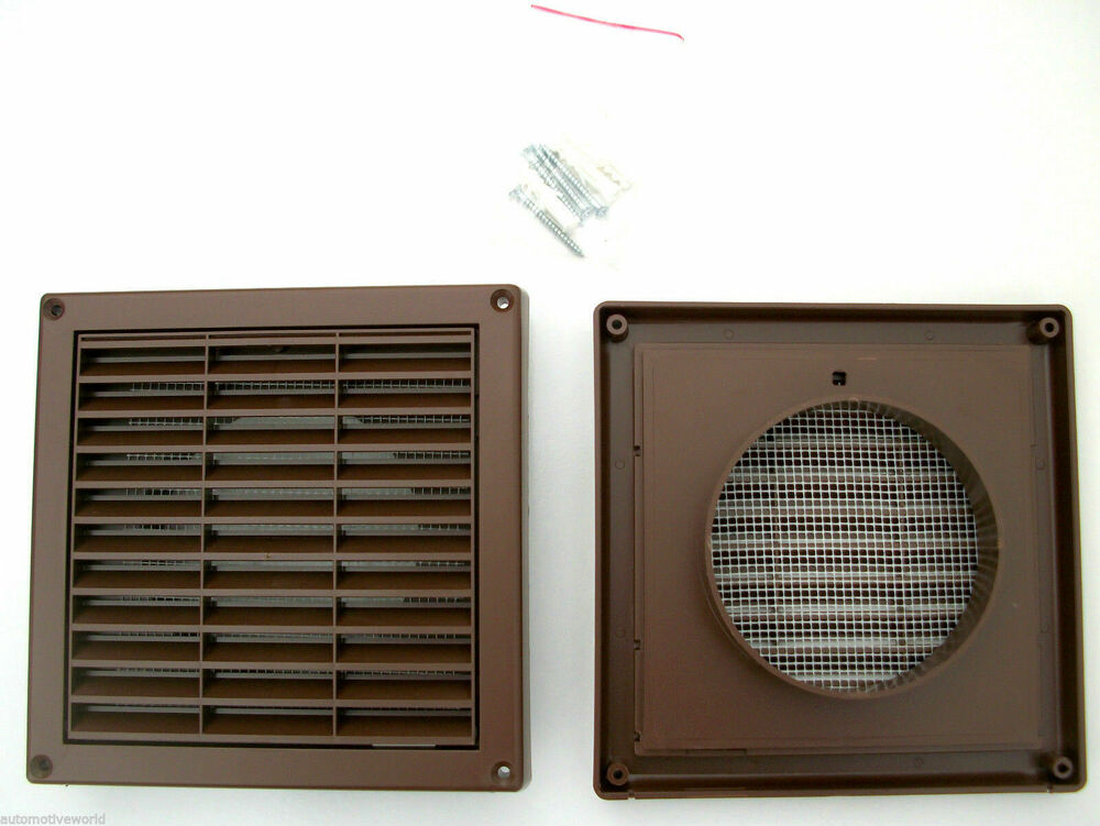 Brown Ducting Ventilation Cover 100mm 4 U0026quot  Air Vent Grille