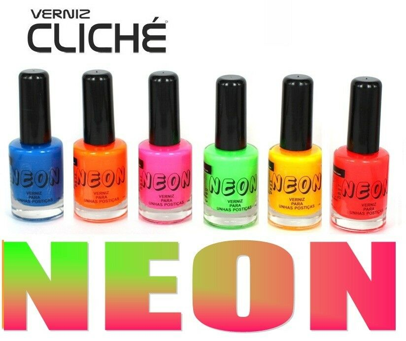 LOT OF 6 COLORS New Fluorescent Neon Colors Nail Art