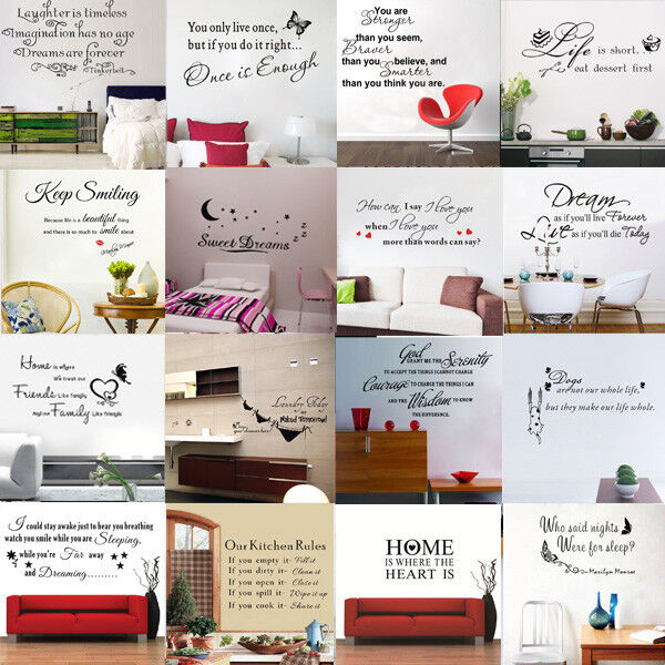 Diy Removable Art Vinyl Quote Words Wall Sticker Decal