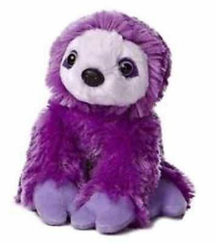 8 Quot Purple Two Toed Sloth Plush Stuffed Animal Toy New Ebay