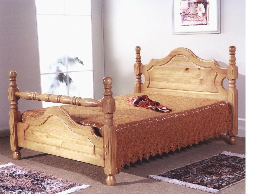 Pine Beds Country Style Solid Pine Bed In 3ft Single 4ft6