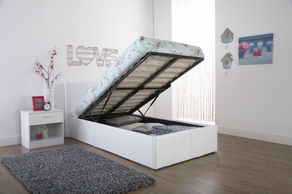 Next Day Delivery 3ft Gas Lift Storage Ottoman Bed