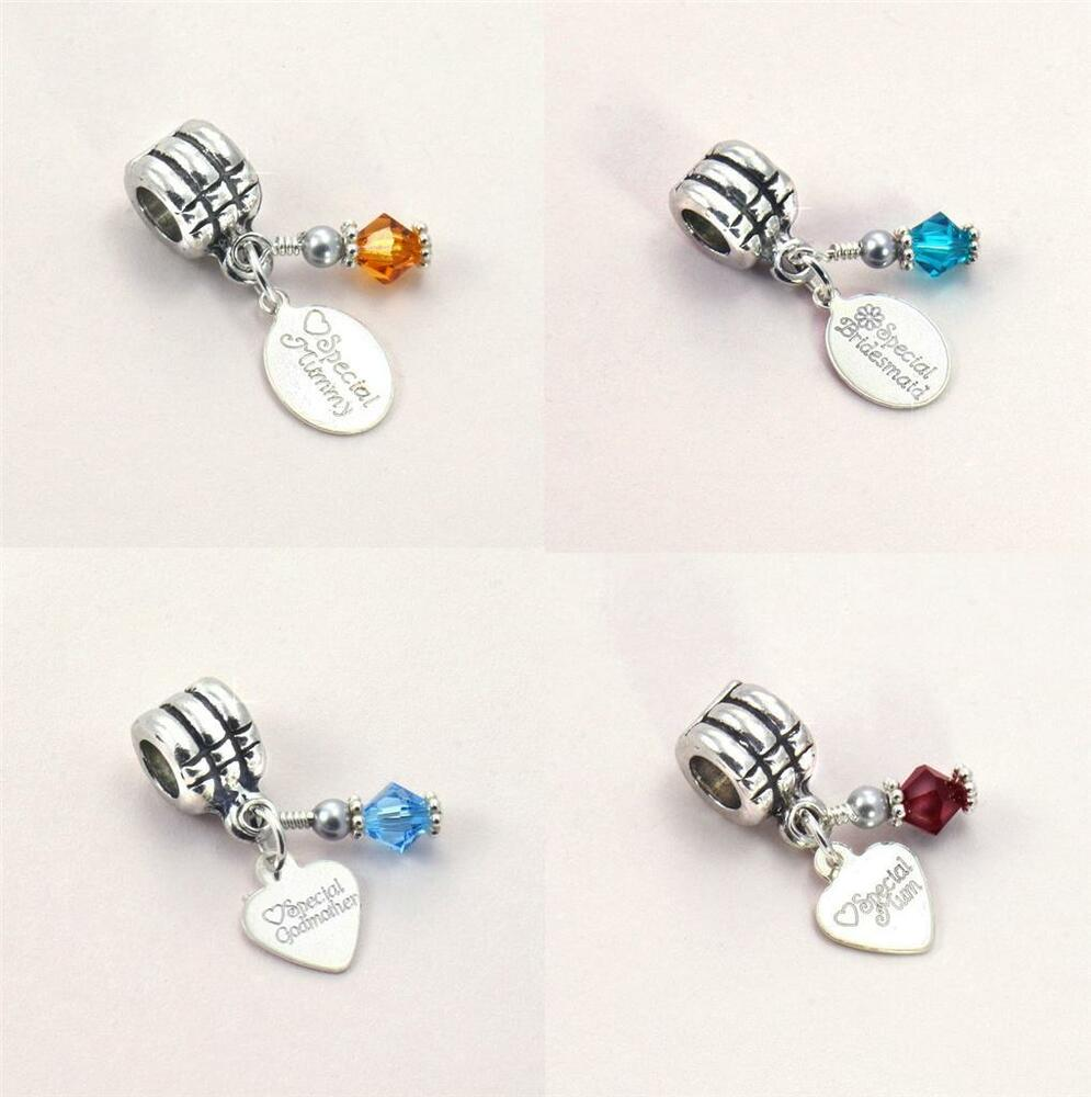 birthstone bracelet charm with stg silver engraved tag on bail for snake chains ebay. Black Bedroom Furniture Sets. Home Design Ideas