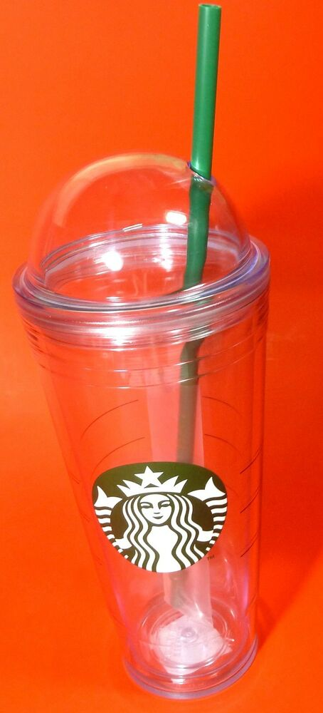 SUMMER GOURMET COFFEE*! STARBUCKS*TUMBLER LOGO COLD CUP DOME LID*16 OZ&STRAW*NEW | eBay