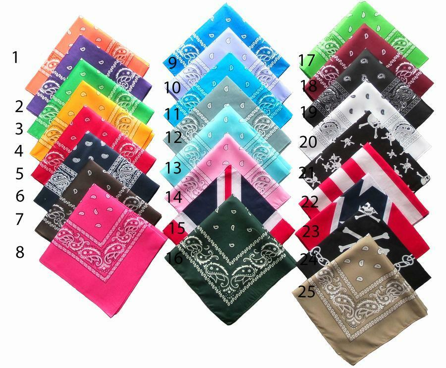 bandana headwrap homme femme couleur au choix noir blanc rouge jaune rose ebay. Black Bedroom Furniture Sets. Home Design Ideas