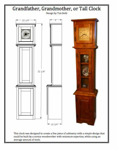 ... PLANS - Grandfather / Grandmother / Tall Clock - WOODWORKING PLANS