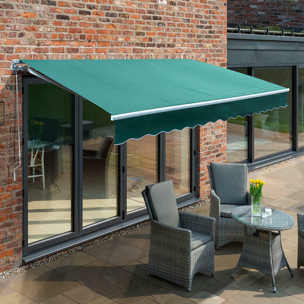 Primrose Patio Awning Manual Yard Canopy Sun Shade ...