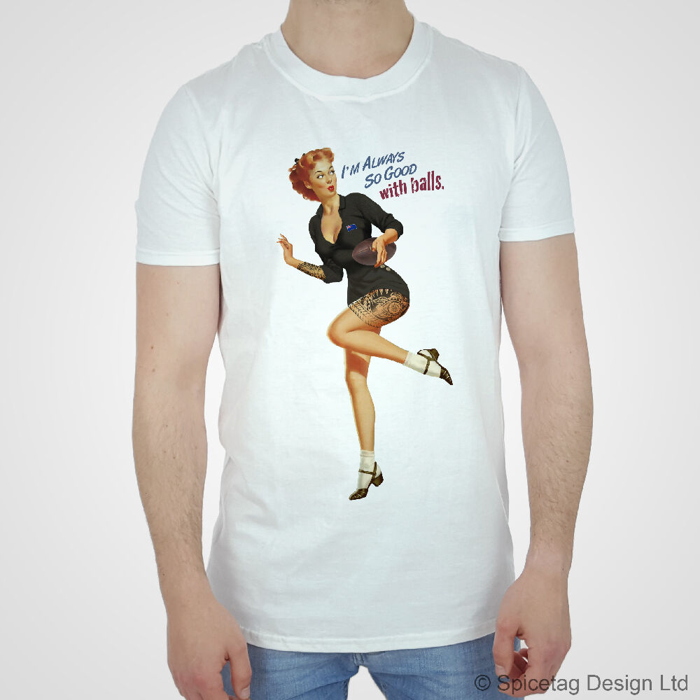 new zealand t shirt rugby pin up girl tshirt zealander championship kiwi maori t ebay. Black Bedroom Furniture Sets. Home Design Ideas
