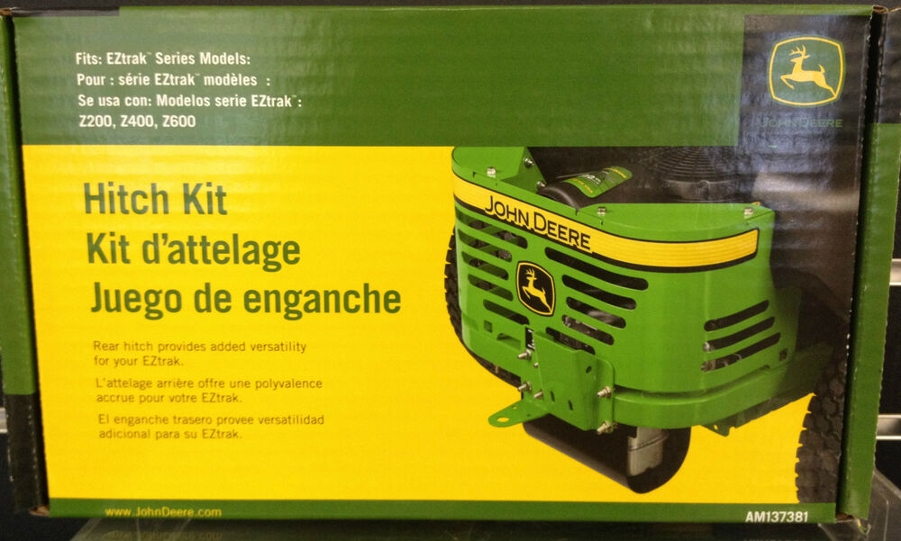 John Deere Rear Hitch Kit for EZ Trak Zero Turn Residential Mower ...
