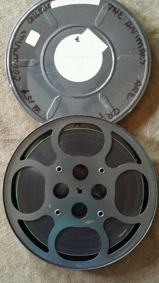 """16mm Reel Movie Projectors: Vintage """"THE ANIMALS ARE CRYING"""" 16MM Reel Film Color 15"""