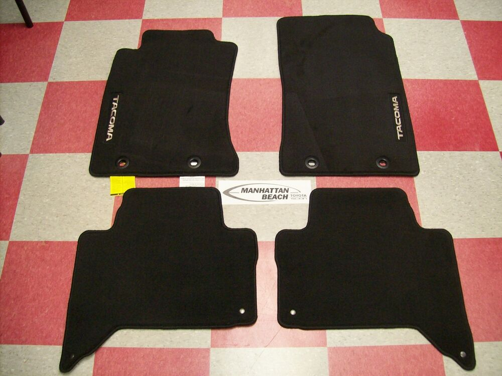 2012 2014 tacoma double cab carpet floor mats pt206 35142 for Original toyota floor mats