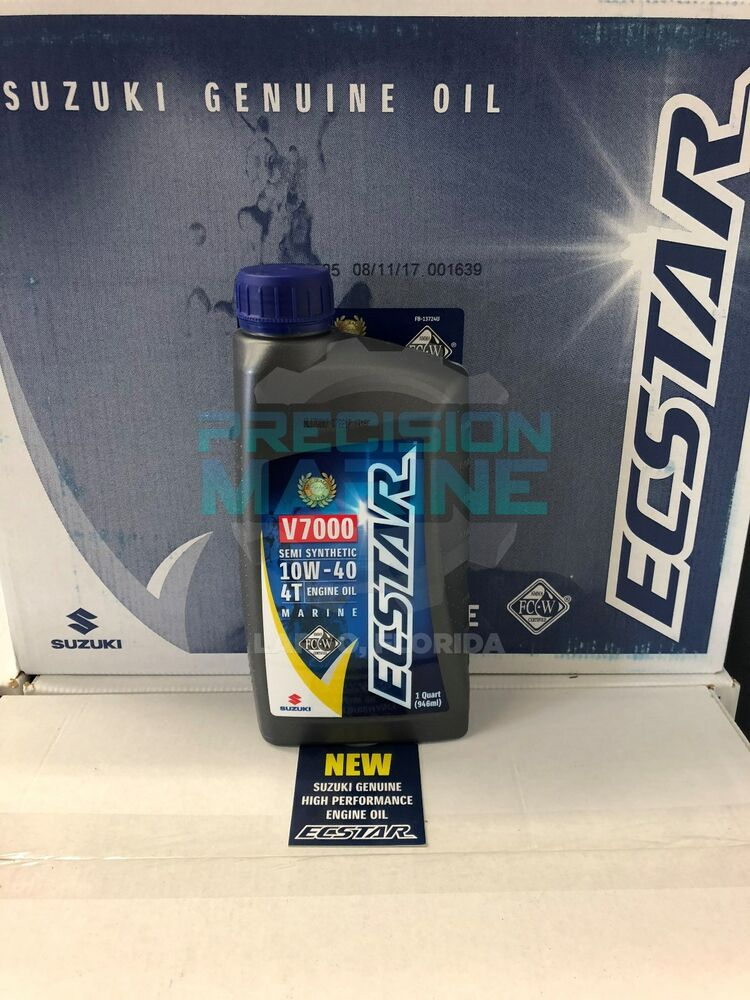 Suzuki Outboard Synthetic Blend Marine 4 Cycle Engine Oil Sae 10w 40 Quart Ebay