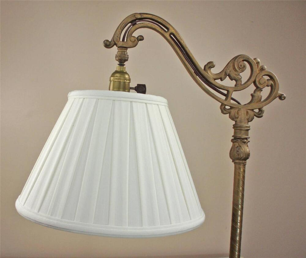 Floor Lamp Shade With Wide Box Pleat Off White Tailor Made