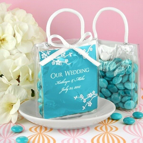 Bride & Groom Mini Gift Totes For Wedding Favors & Gift