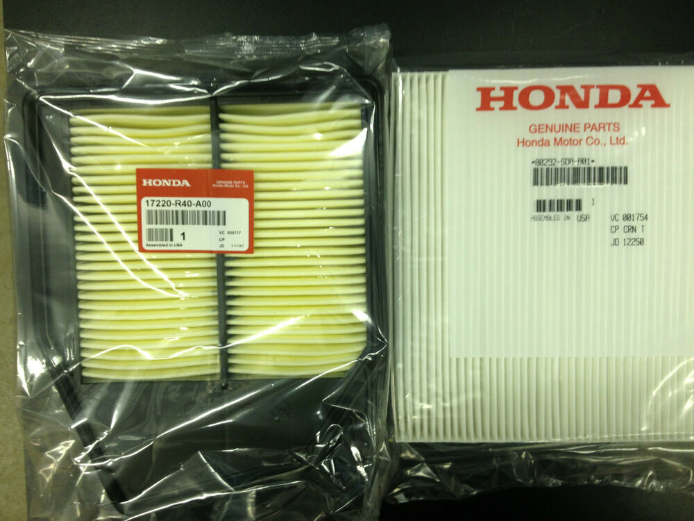 08 12 honda accord 12 14 crosstour 4cyl engine and cabin air filters ebay