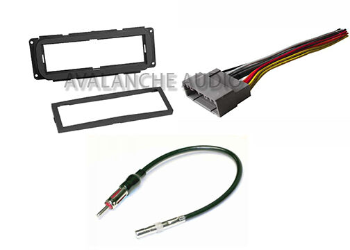 single din dash car stereo radio complete installation kit w   wiring harness set