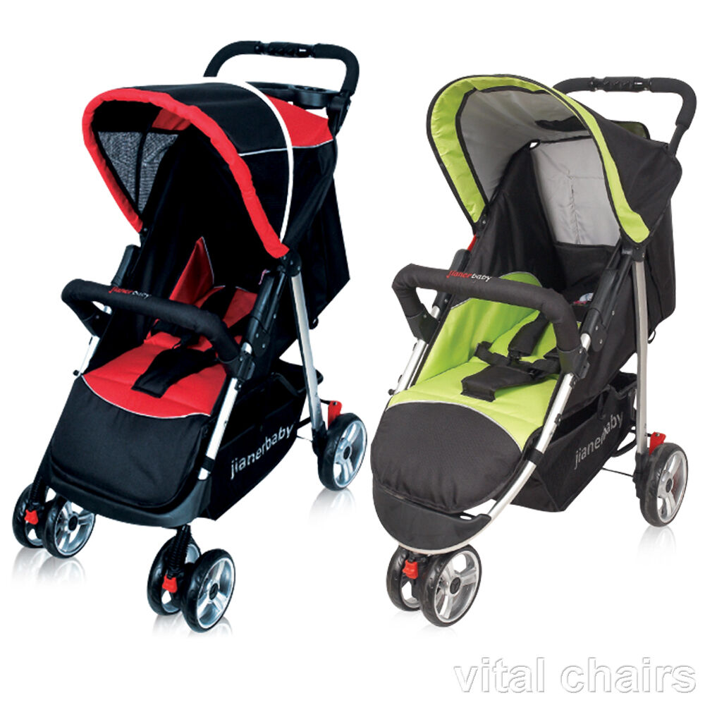 vital quality pushchair baby pram and pushchair stroller buggy ebay. Black Bedroom Furniture Sets. Home Design Ideas