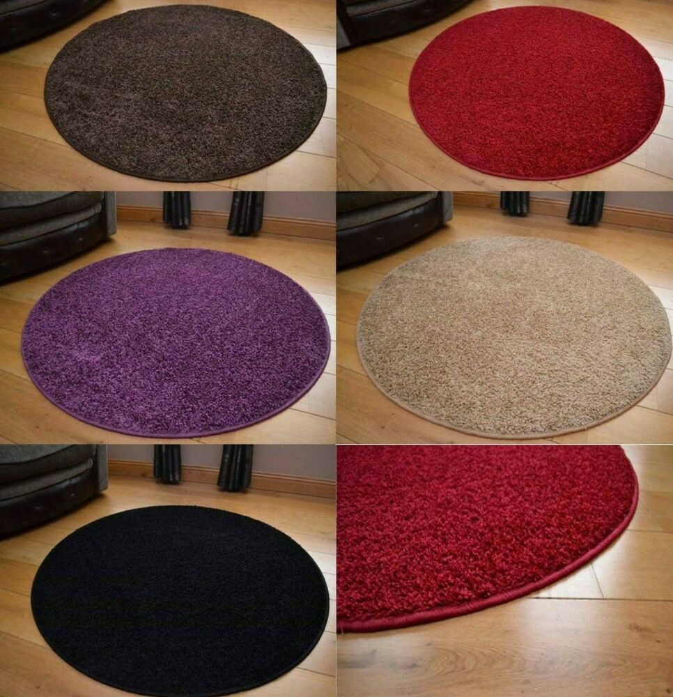 Colour Circle Rug Mat Round Small Bedroom Living Room Soft