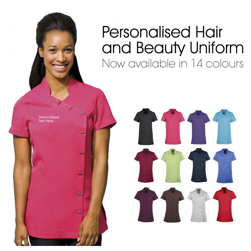 Personalised beauty salon uniform customised tunics for for Uniform spa therapist