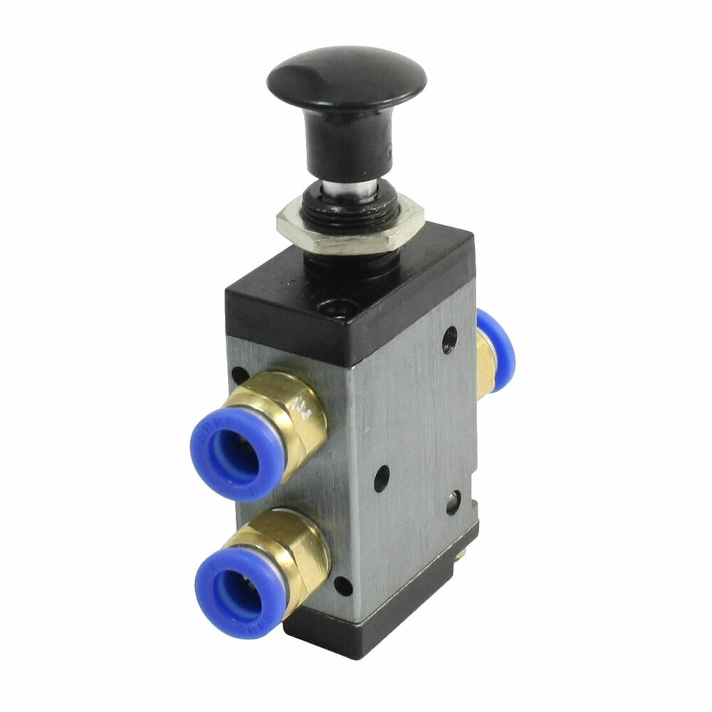 1 8 Manual Pull Air Valve : R mm connector push pull valve port one position