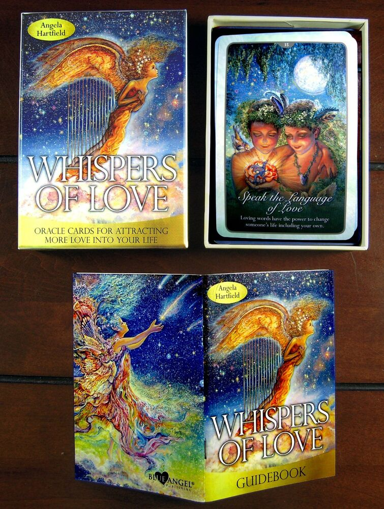 NEW Whispers Of Love Oracle Cards Tarot Angela Hartfield