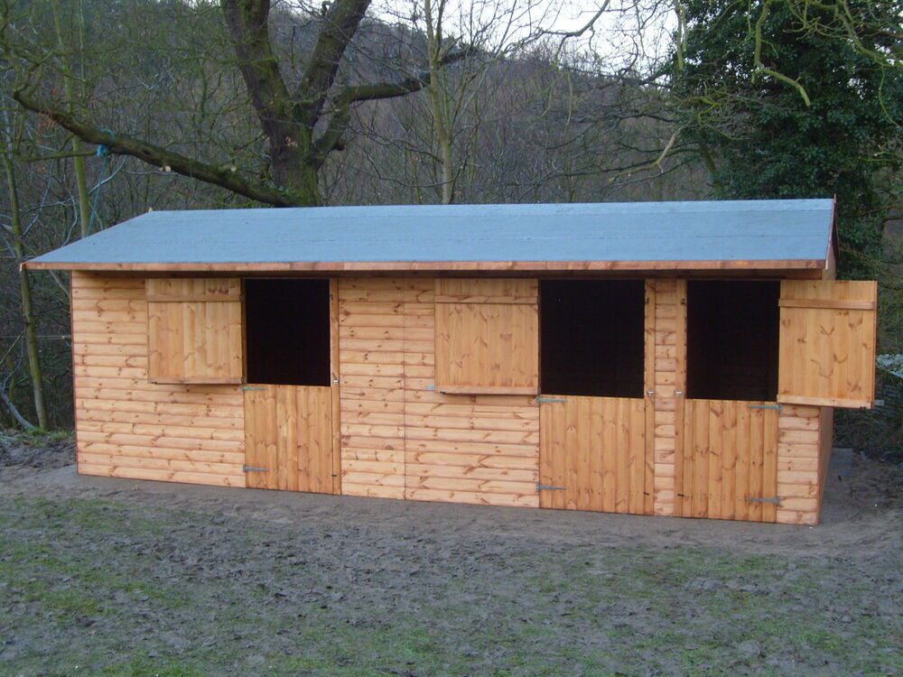 24 X 12 Wooden Horse Stables Tac Room Best Quality Ebay