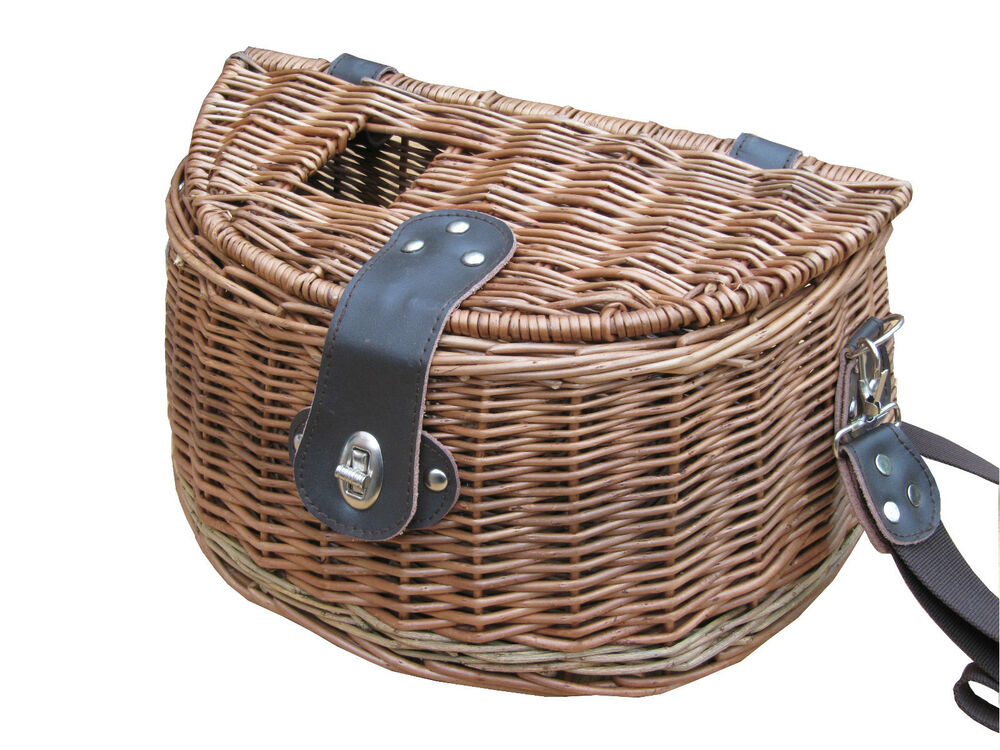 Traditional willow wicker fly fishing creel basket for Fishing creel basket