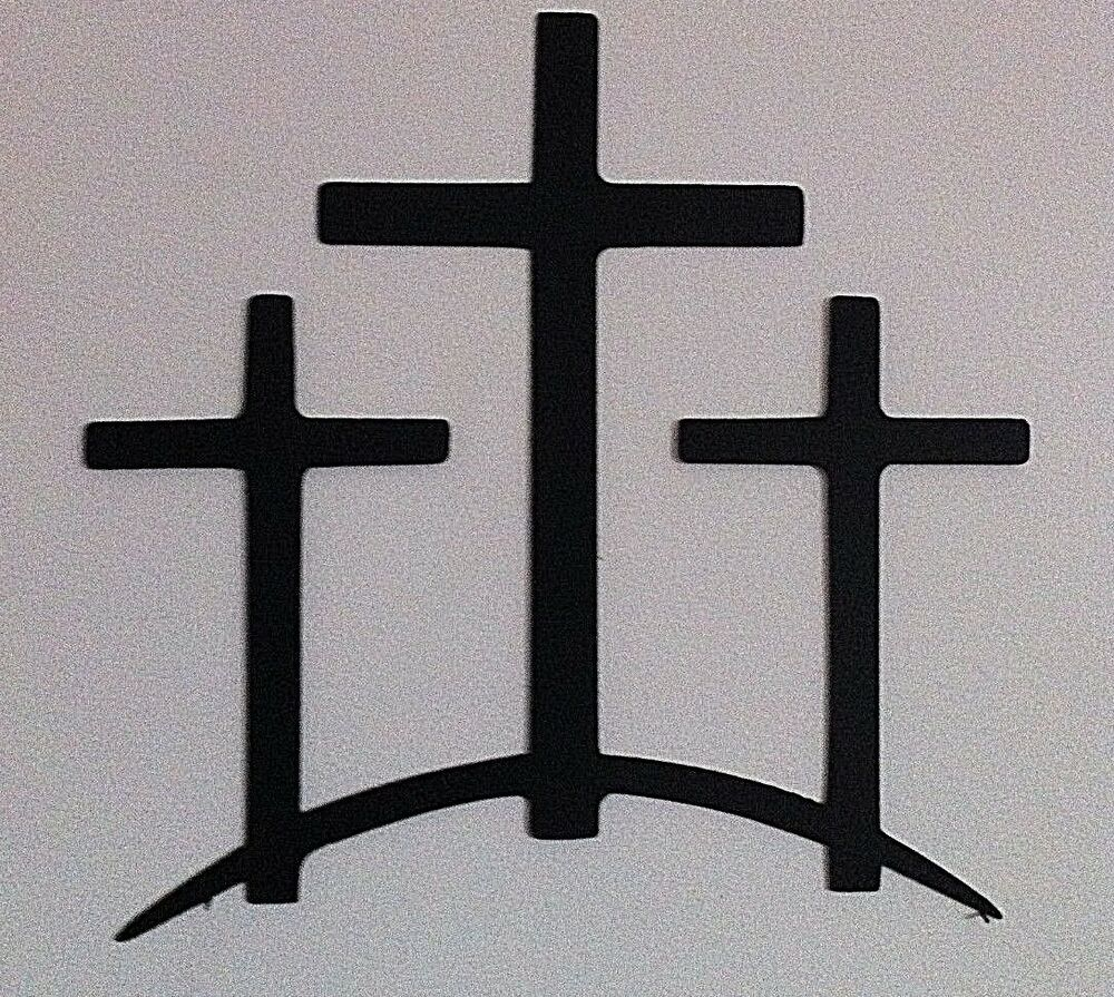 Metal trinity crosses wall decor trinity cross hand crafted metal ebay Home decor wall crosses