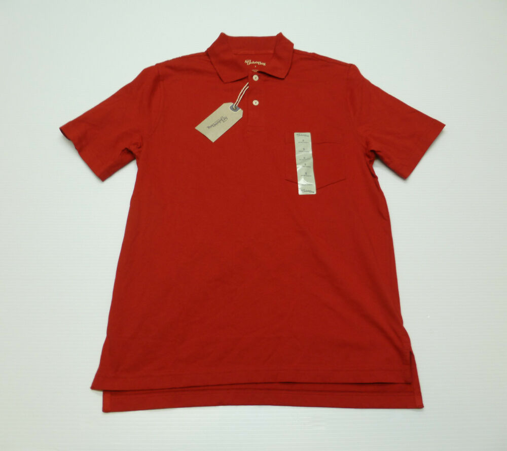 St johns bay mens size small red knit short sleeve pocket for Mens 2xlt short sleeve shirts