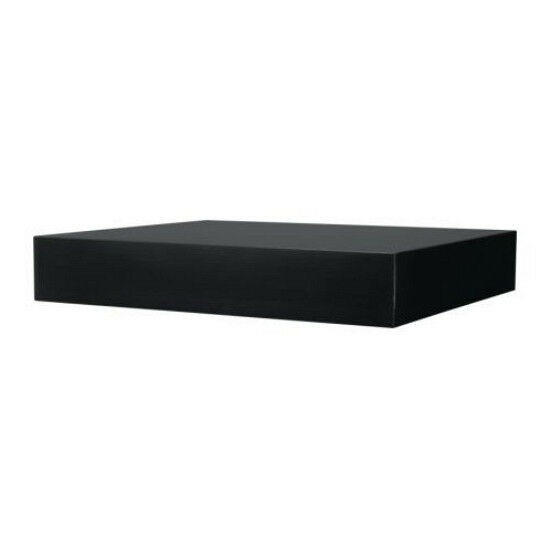 Ikea Wall Shelf Black Floating Conceal Mounting Book