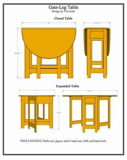 Gate-Leg Table Woodworking Plans | eBay