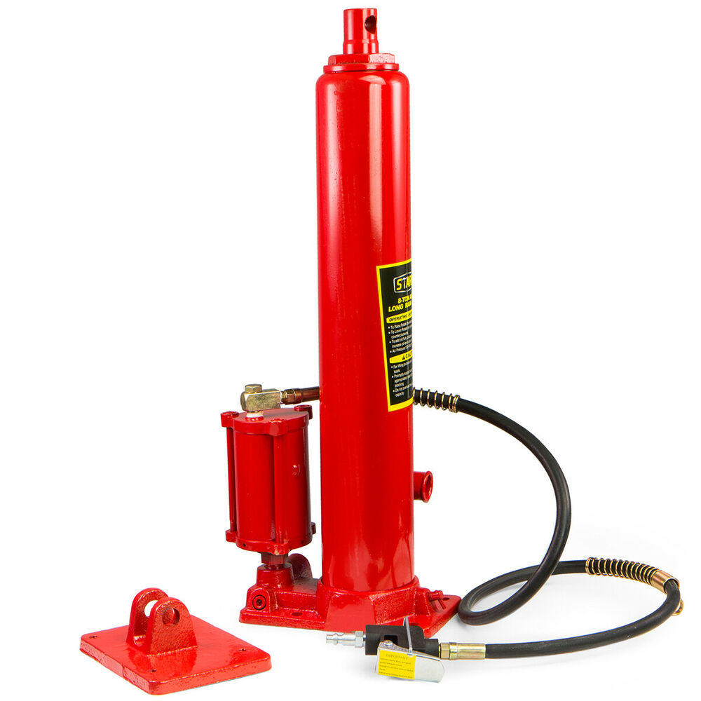 2 In1 8 Ton Air Manual Hydraulic Ram Jack Pump Engine Lift