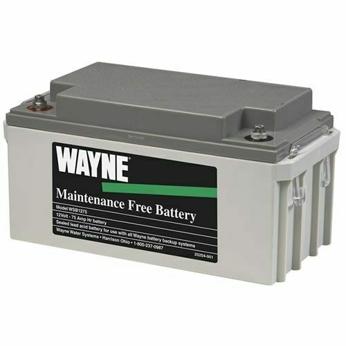 Backup Battery For Amp Meter : Wayne wsb maintenance free agm backup sump pump