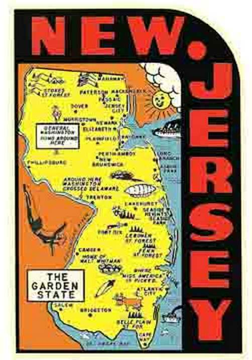 New Jersey The Garden State Nj 1950 39 S Vintage Looking