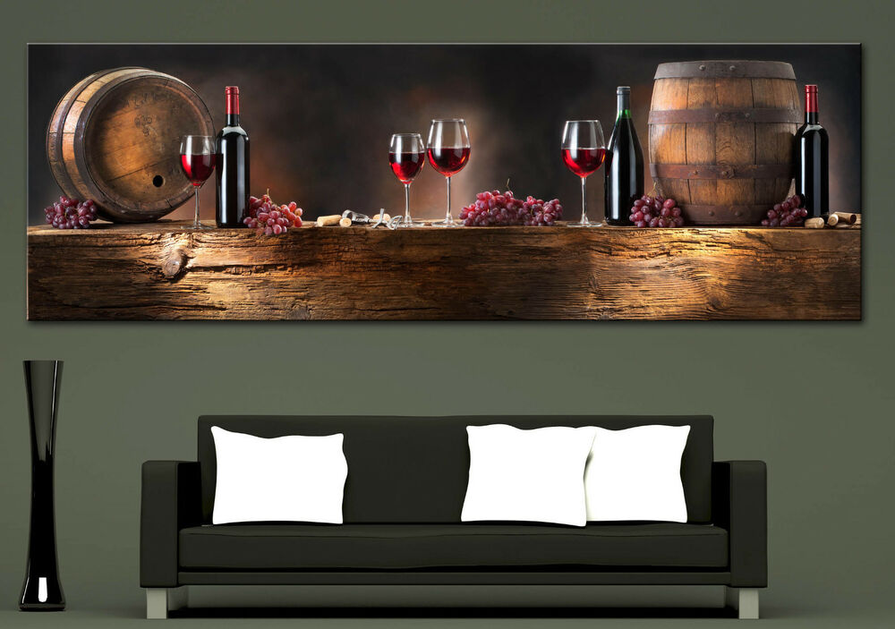 Wall Art Canvas Print Wine Composition Picture Home Wall