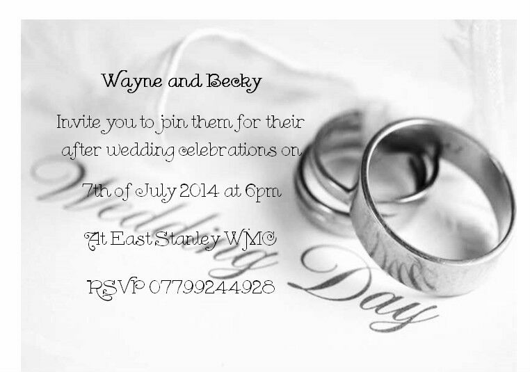 Evening Wedding Reception Invitations: 50 Personalised Wedding Invitations