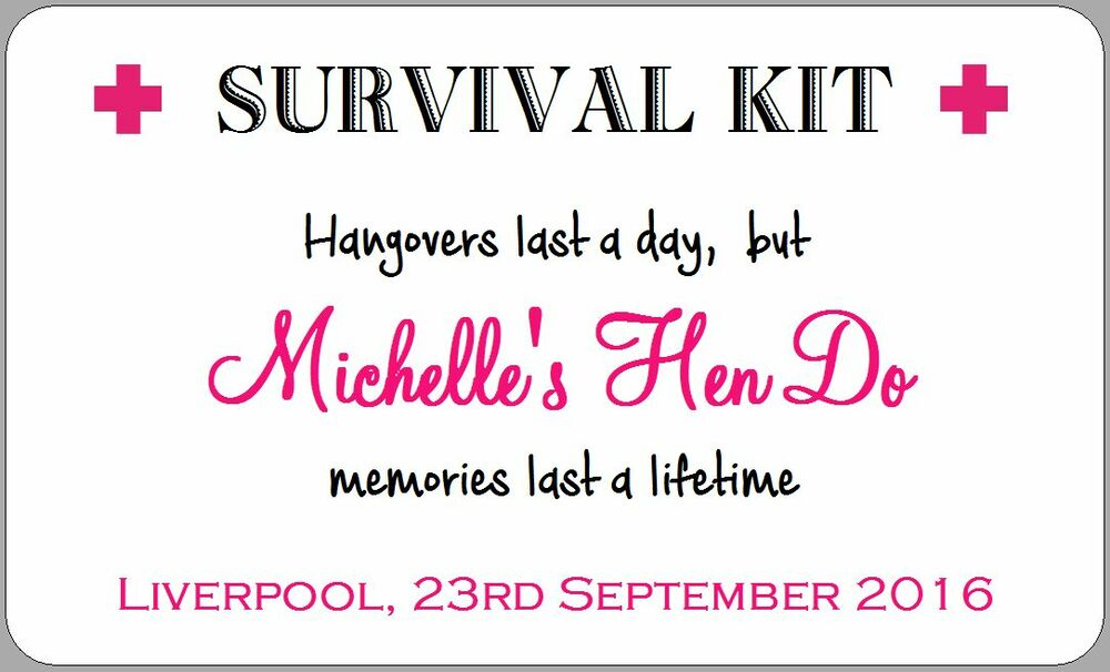 This is a photo of Gorgeous Hen Party Hangover Kit Labels