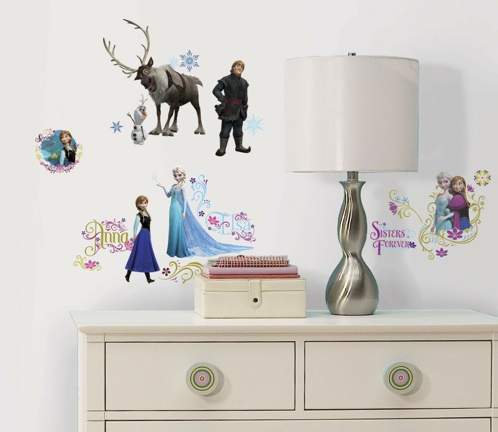 disney frozen wall decals room decor movie stickers ebay. Black Bedroom Furniture Sets. Home Design Ideas