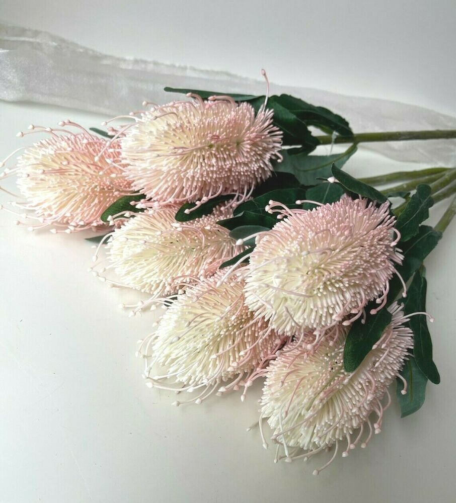 Real Vs Fake Flowers Wedding: ROSES BLUE CREAM SILK ROSE POSY BOUQUETS WEDDING BOUQUET