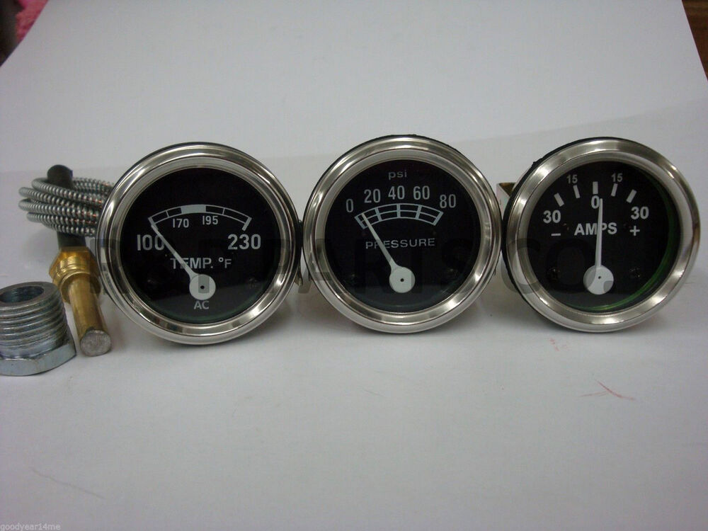 Ford 2000 Tractor Instrument Cover : Amp oil temp gauge set for ford tractor n naa