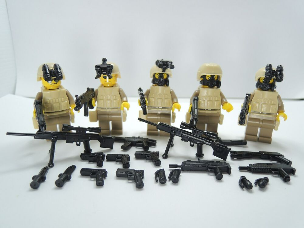 no.5-542) custom LEGO navy seal swat police lego gun army weapons ...