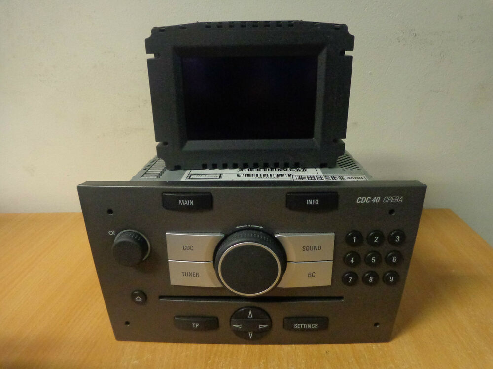 vauxhall cd40 cdc 40 opera radio cd changer with screen. Black Bedroom Furniture Sets. Home Design Ideas
