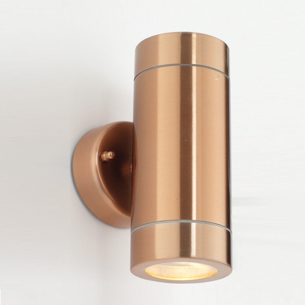 COPPER UP AND DOWN WALL LIGHT - ST5008C ODYSSEY RANGE - IP65 eBay