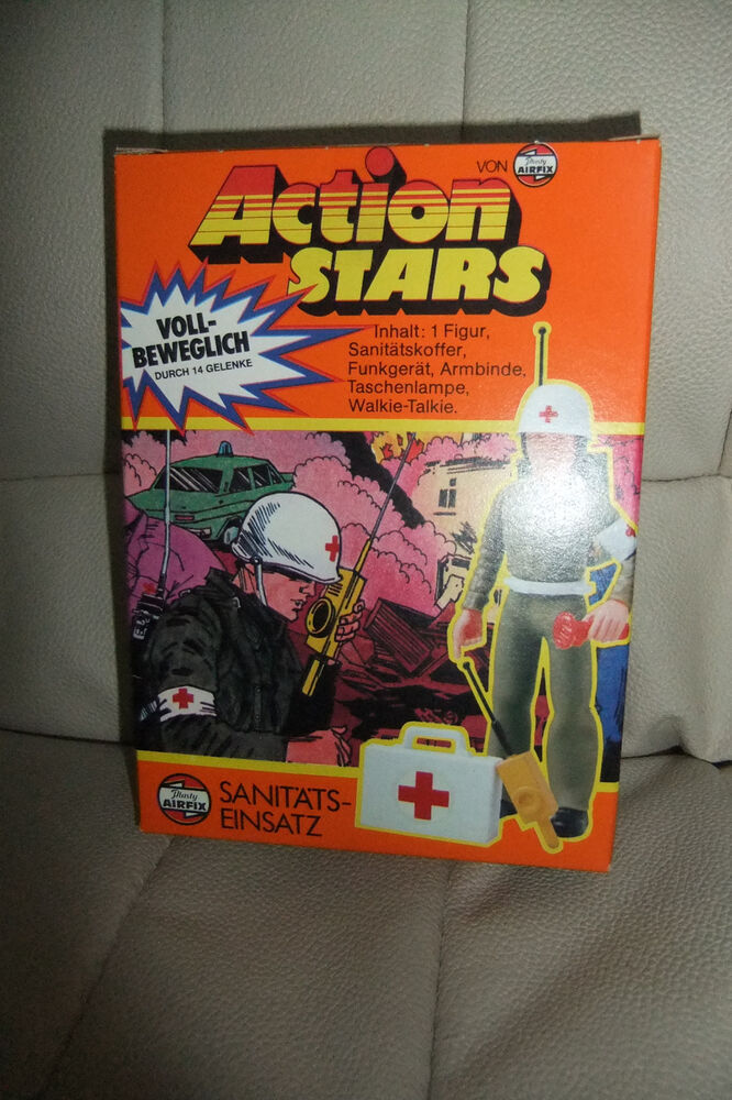 Mib 1970s Vintage Airfix Action Stars Army Medic Action