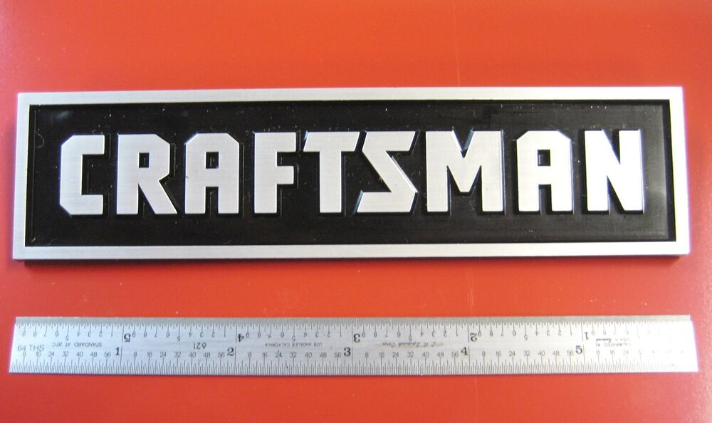 Sears Craftsman Tool Box Badge Large Chest Cabinet Emblem