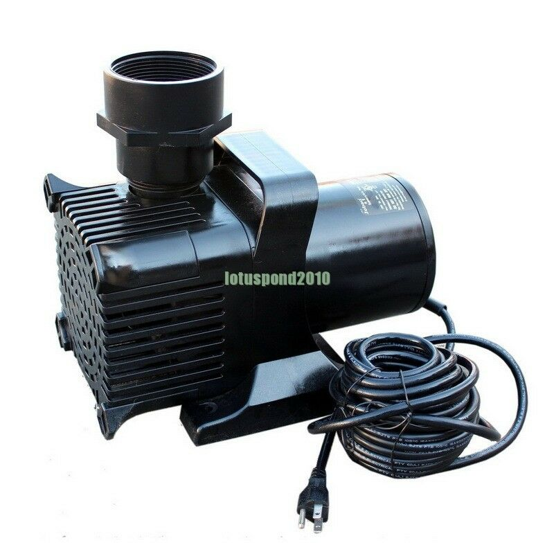 Jebao 7500gph pond pump with 30 ft cord 700w h max 33 0 ft for Yard pond pumps